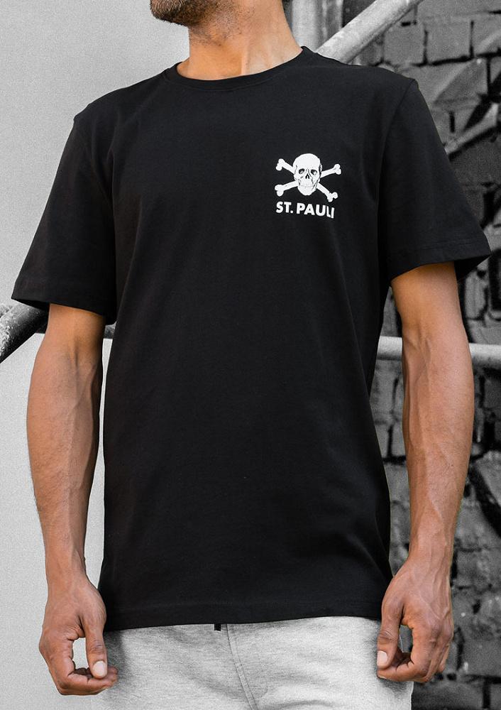 Pauli Baby T-Shirt Totenkopf schwarz FC St