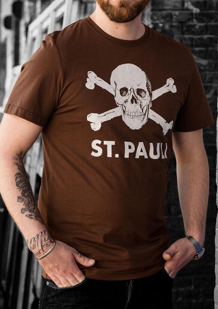 75fdc05d Skull and crossbones T-shirt, brown
