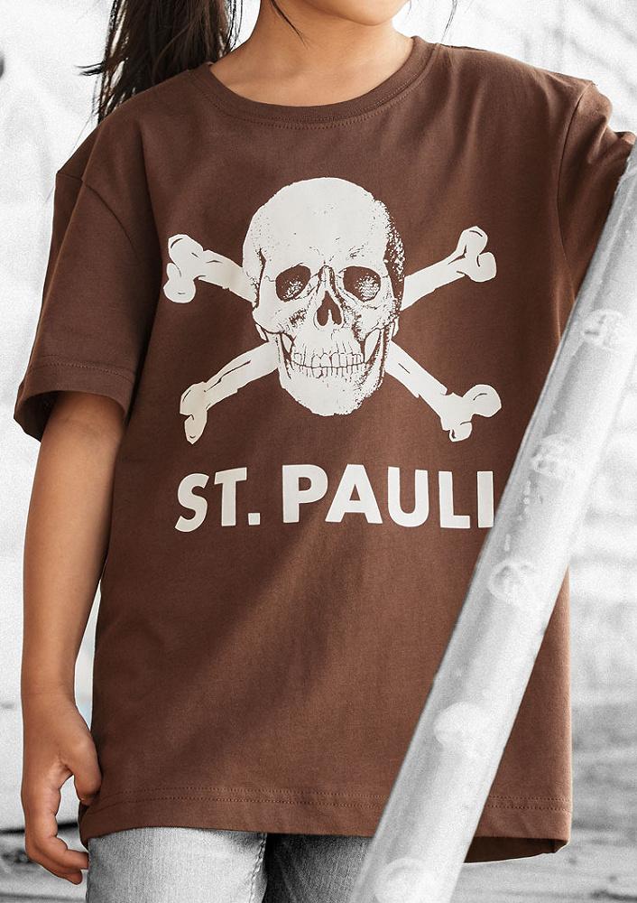 FC St Pauli Skull Baby T-Shirt