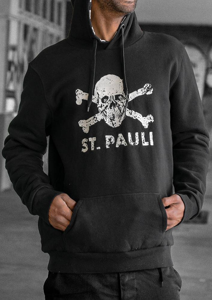 Pauli Totenkopf I Kapuzenpullover schwarz L FC St