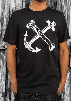 Pauli T-Shirt Oberteil Shirt Kurzarm Aufdruck Sankt Pauli 1910 Schriftzug Black Block Damen Frauen schwarz FC St