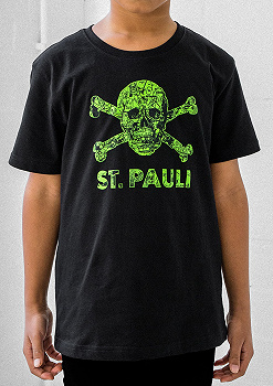 Children s T-Shirt Skull Map Black-Green 4d88e961ed338